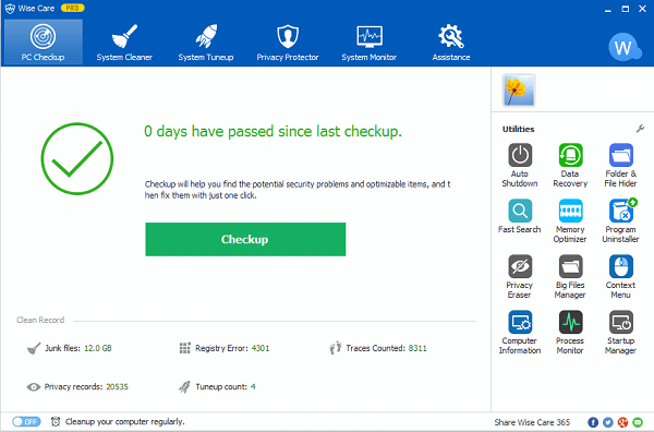 Wise Care 365 Patch & Serial Key Tested Free Download