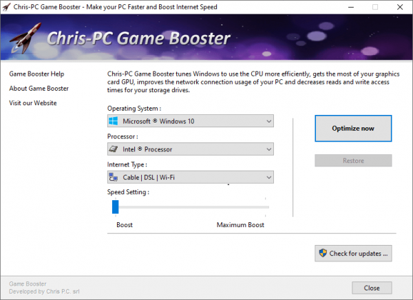 ChrisPC Game Booster Serial Key & Patch Tested Free Download